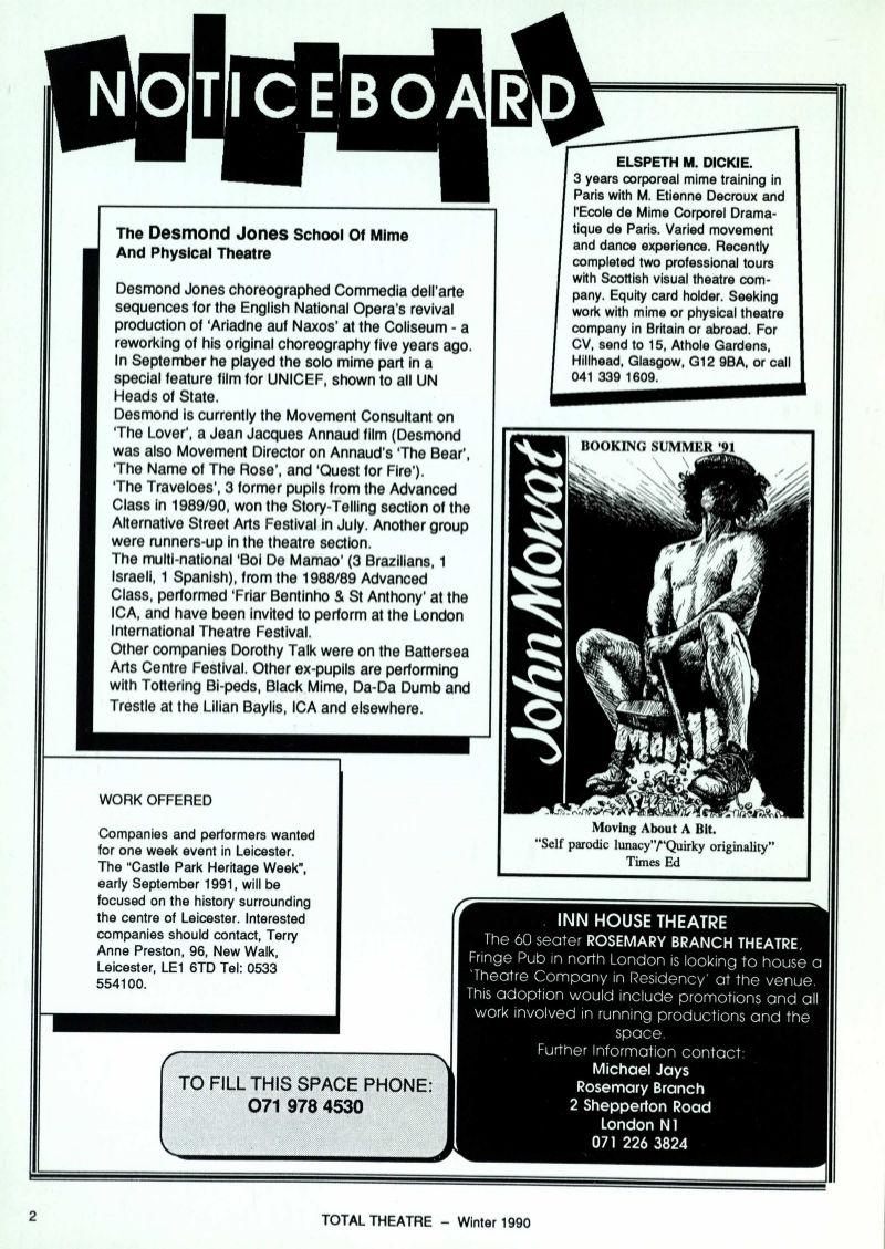 Issue 1/4 | Total Theatre Magazine Print Archive