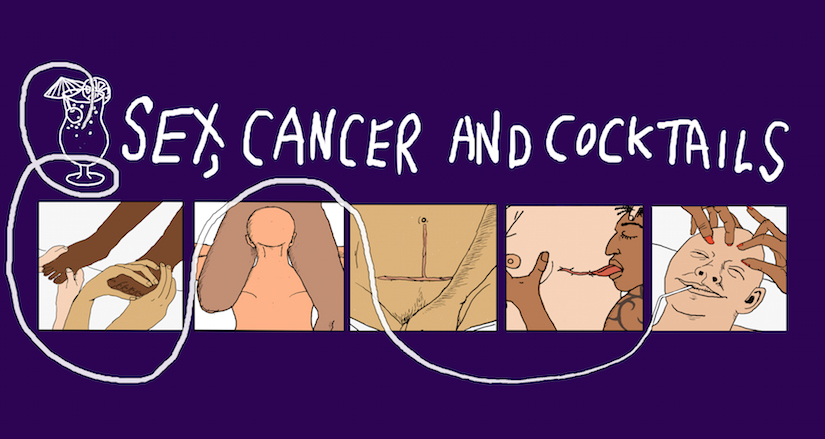 Brain Lobel: Sex, Cancer and Cocktails. Illustration by James Barker